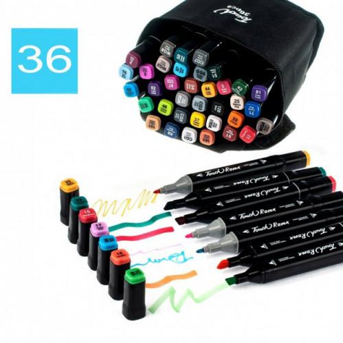 Набор скетч маркеров для рисования Touch Raven 36цв двусторонние профессиональные фломастеры (36)