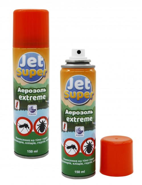 Аэрозоль от комаров Jet Super 150ml repellent Extreme  6часов (48)