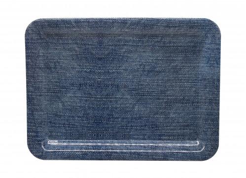Разнос №3425В пл. прямоуг. с рис. джинс  (33*24,5*2)см (100)