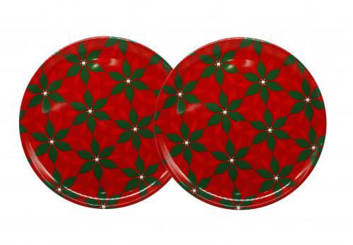 Разнос №3801 пл. круг. с рис цветы (38*1.5см) (60)