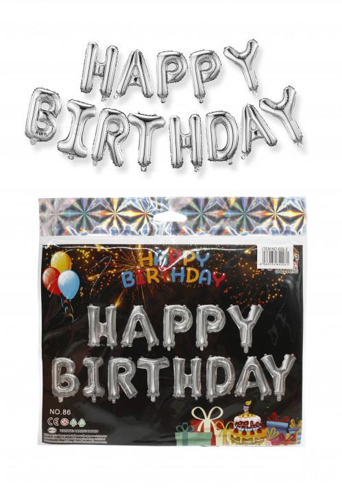 Шарики №658-J воздушные набор happy birthday в кл. (300)