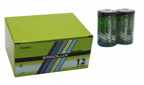 Батарейка R20 ERGOLUX в уп.12шт. в спайке 2шт (144/12)