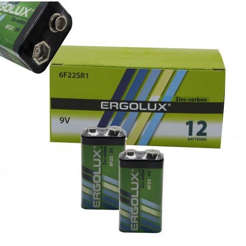 Батарейка 6F22 ERGOLUX  в уп.12шт  (480/12)